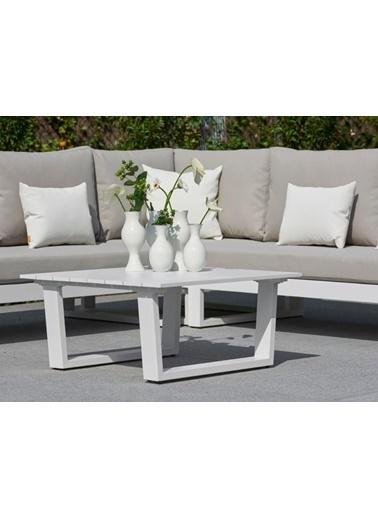 Zenio Zenio Lyra Bahçe Köşe Takımı Beyaz Renkli